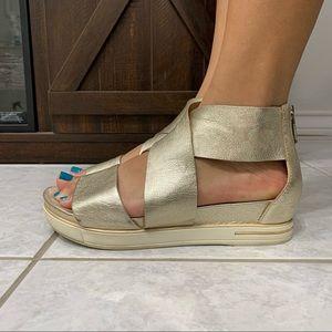Eileen Fisher Metallic Strap Sandals